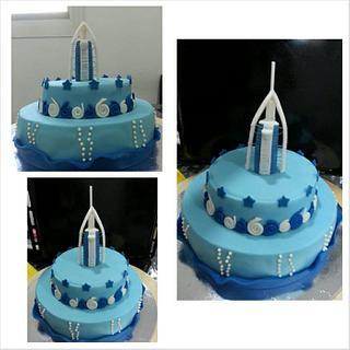 Burj Al Arab themed cake - Cake by Rovi