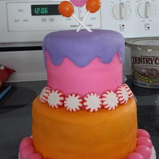 My first fondant covered cake - Cake by Ashton