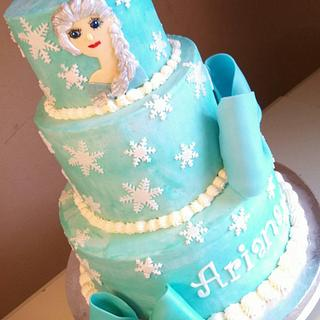 Elsa Disney Frozen Cake - Cake by Kristen Davis