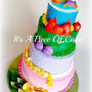 Disney Princess Themed Cake