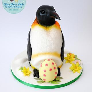 Penguin easter cake