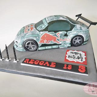 RX-7 MADBUL Drift Car Cake