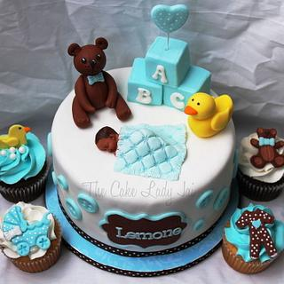 Teddy Bear and Duckie Baby Shower - Cake by Jai Mobley