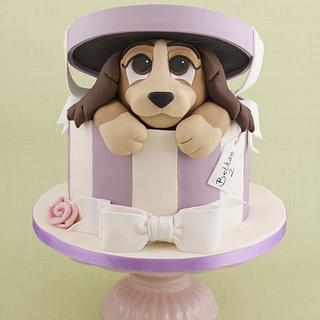 Lady in a Hatbox Cake