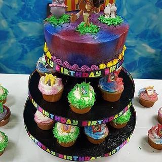 Madagascar cake & cupcakes