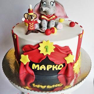 Dumbo and Timothy cake