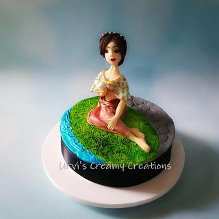 Girl with a Pearl - Cake by Urvi Zaveri