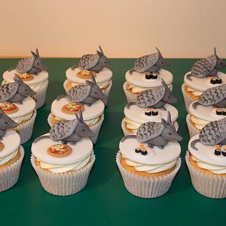 Armadillo Cupcakes
