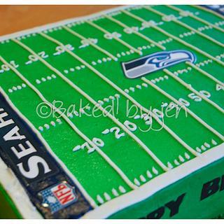 Seattle Seahawks Birthday Cake - Cake by Jen