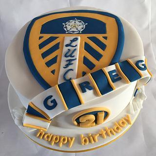 Leeds united  - Cake by jen lofthouse