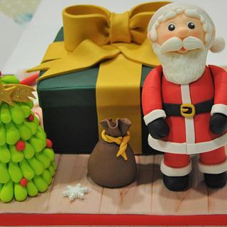 Santa Claus cake - Cake by Wedding Painting Cakes by Soraya Torrejon