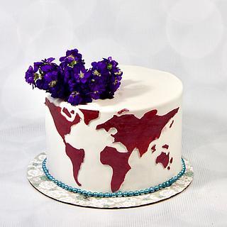 Bridal shower travel cake