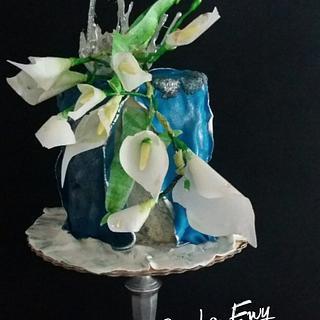Urodzinowe kalie  - Cake by Ewa