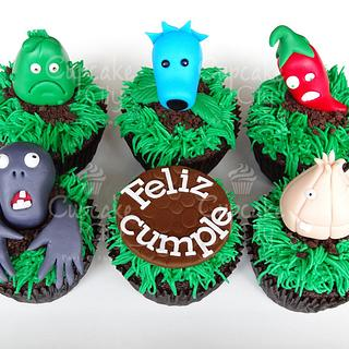 Plants vs Zombies Cupcakes