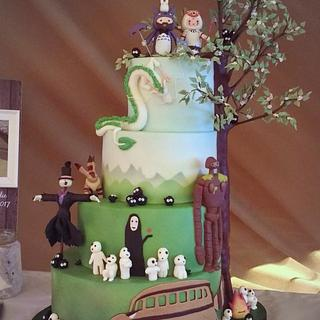 Studio Ghibli Wedding Cake - Cake by CakeyCake
