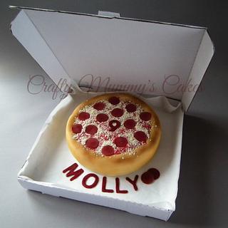 Pizza cake - Cake by CraftyMummysCakes (Tracy-Anne)