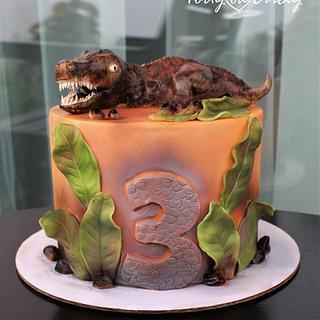 T-Rex - Cake by Cakes by Evička