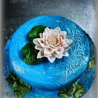 Monet cake picture