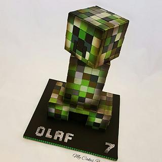 Creeper 3d - minecraft  - Cake by My Cakes Revolution