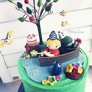 Fishing with Dinosaurs - Cake by Dozycakes