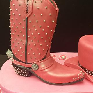 Cowgirl Boot And Hat party cake