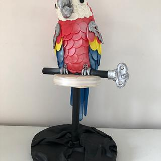 Marcus the steampunk parrot
