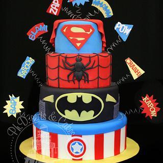 Super Hero Birthday Cake - Cake by PhDserts