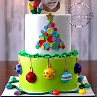 Bieber Christmas Cake