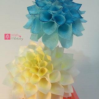 Wired wafer paper dahlia