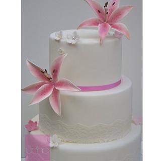 Stargazer wedding cake