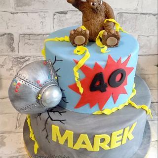Alf birthday cake