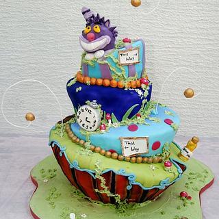 Mad Hatter Christening cake