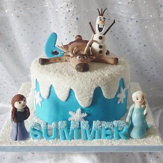 Summer's Frozen Cake