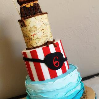Brody's Pirate Cake - Cake by Kendra