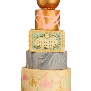 The vintage wedding cake