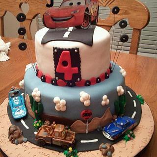 CARS Birthday Cake - Cake by Tammy