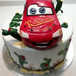 Cars - Lightning McQueen - Cake by Majka Maruška