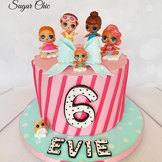 x LOL Surprise Dolls Birthday Cake x