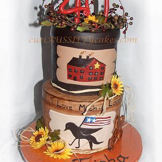 Americana Stacked boxes cake