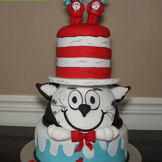Cat In The Hat Birthday Cake And Cake Pops!!!!