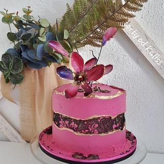 Bday fault line cake