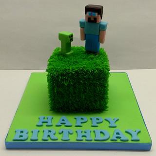 Mini Minecraft  - Cake by Sarah Poole