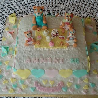 Teddy bear ...tea party - Cake by MySignatureCakes