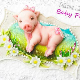 Baby Piglet Silicone Mould