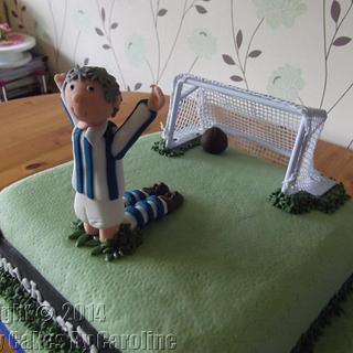 Football cake for a Huddersfield Town fan