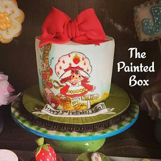 Vintage Strawberry Shortcake Handpainted Cake - Cake by The Painted Box