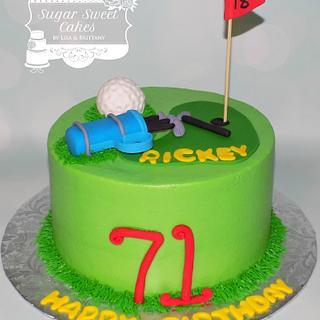 Golfer - Cake by Sugar Sweet Cakes
