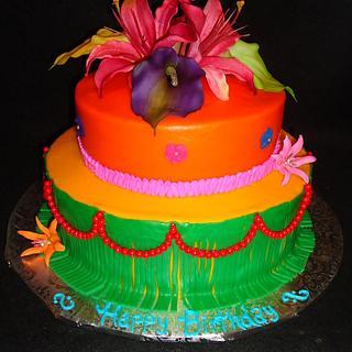 Hawaiian Birthday - Cake by Kim Leatherwood