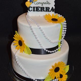 Sunflower Graduation cake