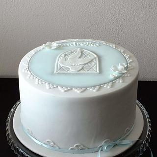 Communion cake for boy
